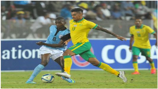 Oteng Legwaila (Botswana), Clayton Daniels (South Africa) Cosafa Cup 24 May 2015