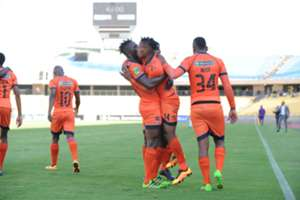 Edgar Manaka celebrates Polokwane City goal