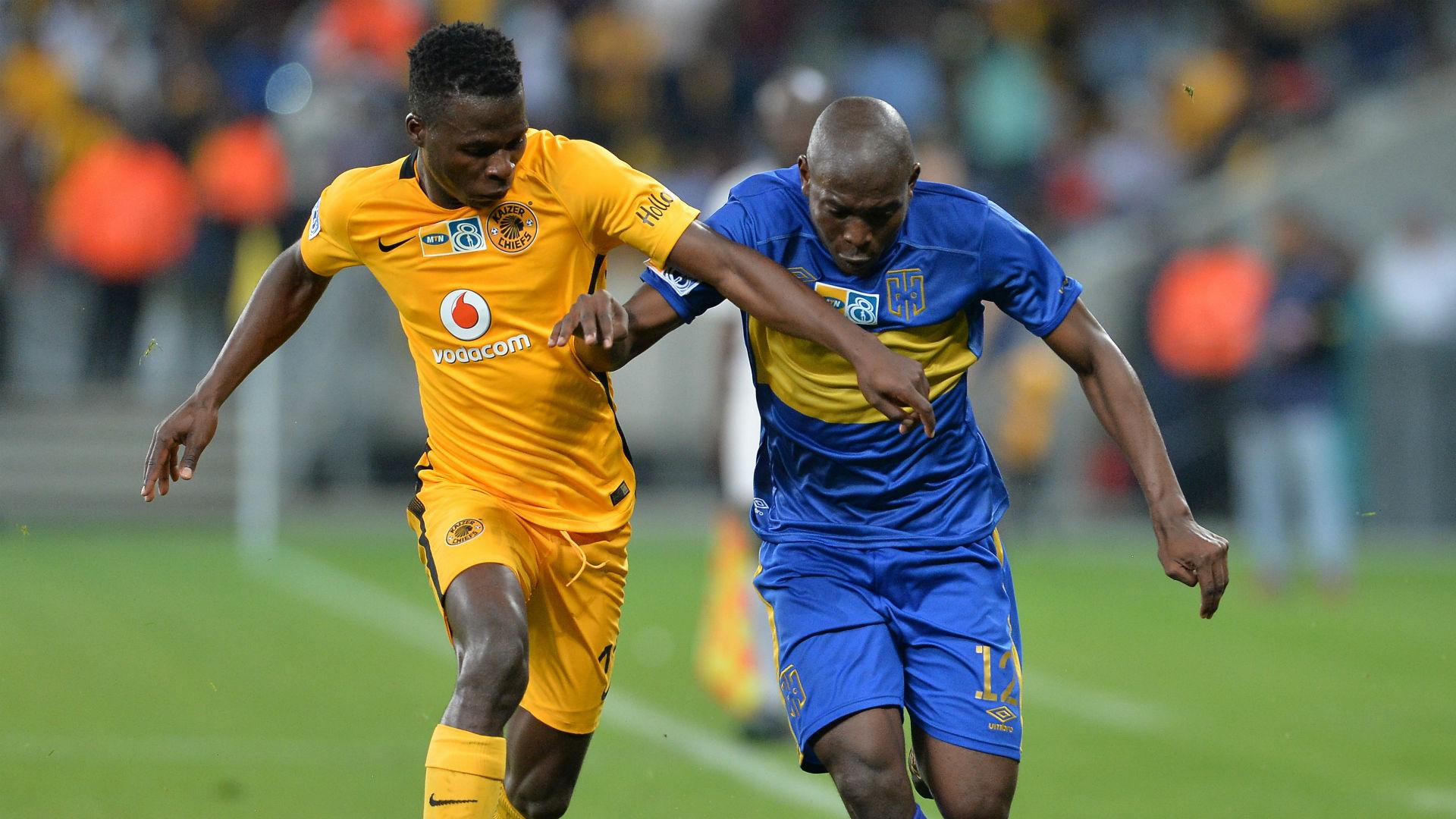 Edmore Chirambadare and Aubrey Modiba - Chiefs v Cape Town City