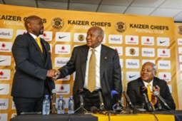 Steve Komphela and Kaizer Motaung