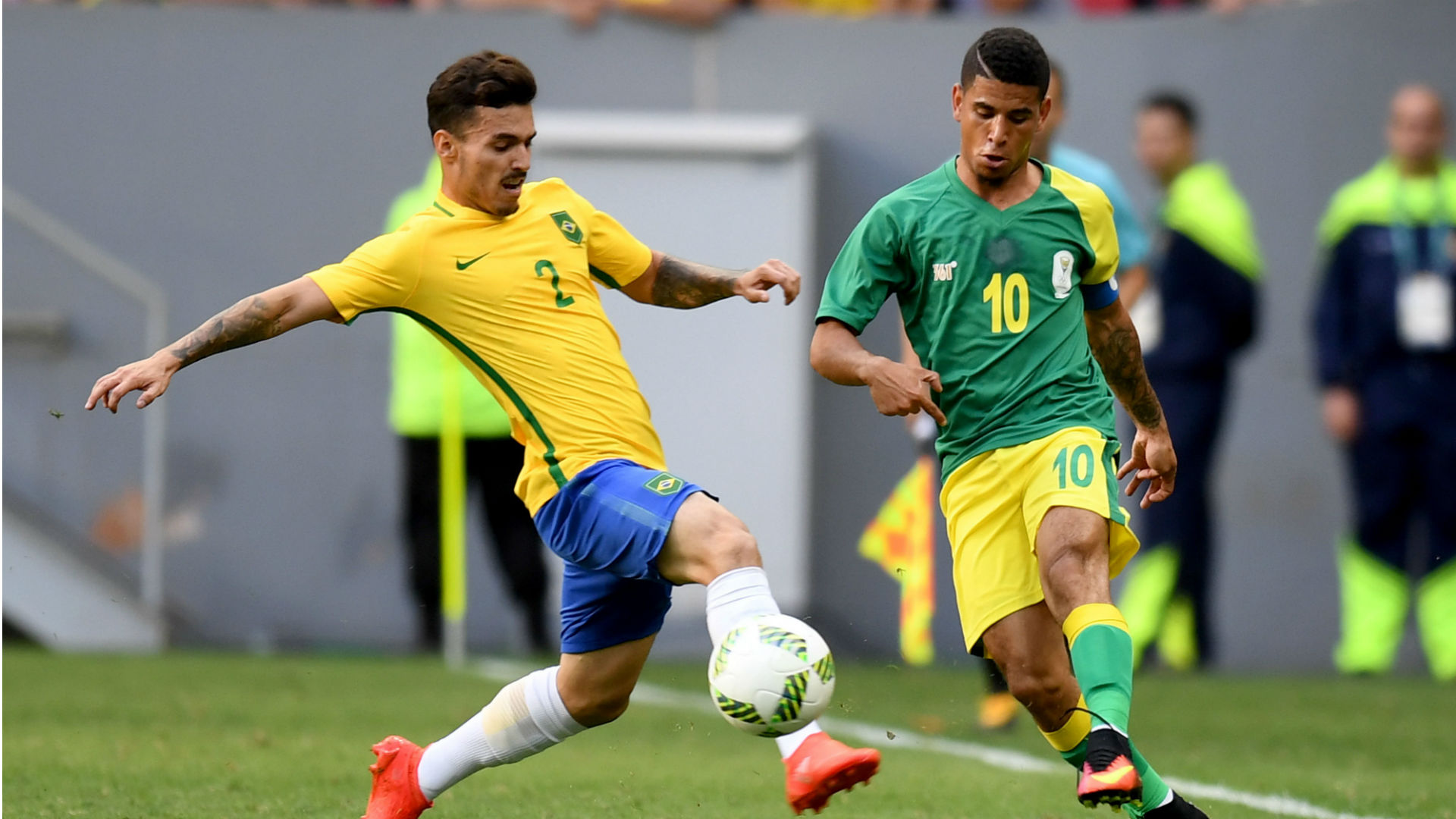 Keagan Dolly against Brazil