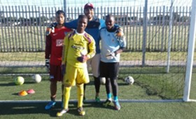 Shuaib Walters with Young Bafana