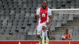 Nathan Paulse celebrates scoring for Ajax Cape Town