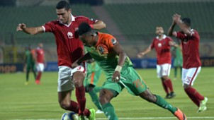 Ramy Rabia of Al-Ahly and Zesco United's Idris Ilunga Mbombo