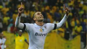 Eleazar Rodgers celebrates his goal against Sundowns