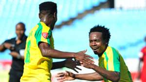 Themba Zwane and Percy Tau - Mamelodi Sundowns