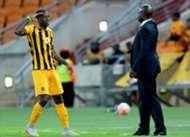 Kaizer Chiefs striker Camaldine Abraw & Steve Komphela