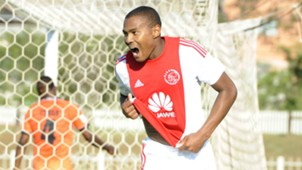 Prince Nxumalo of Ajax Cape Town celebrates against Polokwane City