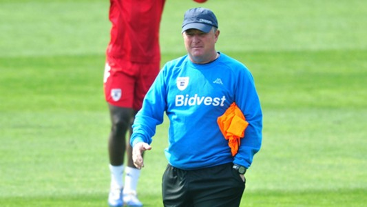 Gavin Hunt at Bidvest Wits training