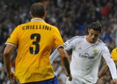 Giorgio Chiellini & Cristiano Ronaldo - Real Madrid CF v Juventus