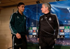 Rafael Varane & Jose Mourinho