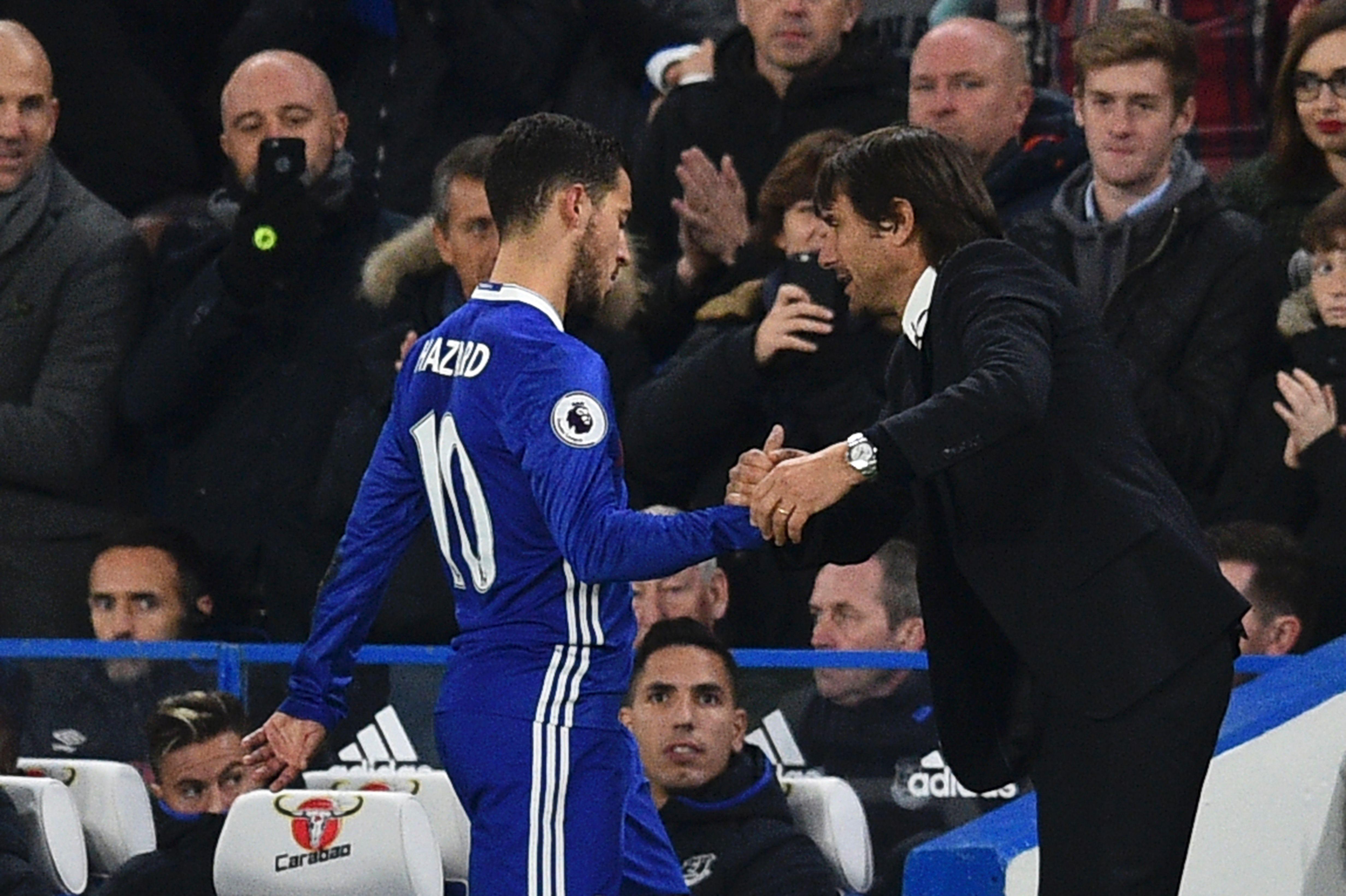 Antonio Conte & Eden Hazard