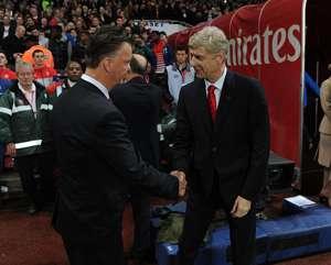 Arsene Wenger and Luis Van Gaal