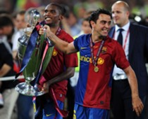 Xavi Hernandez UEFA Champions League Trophy