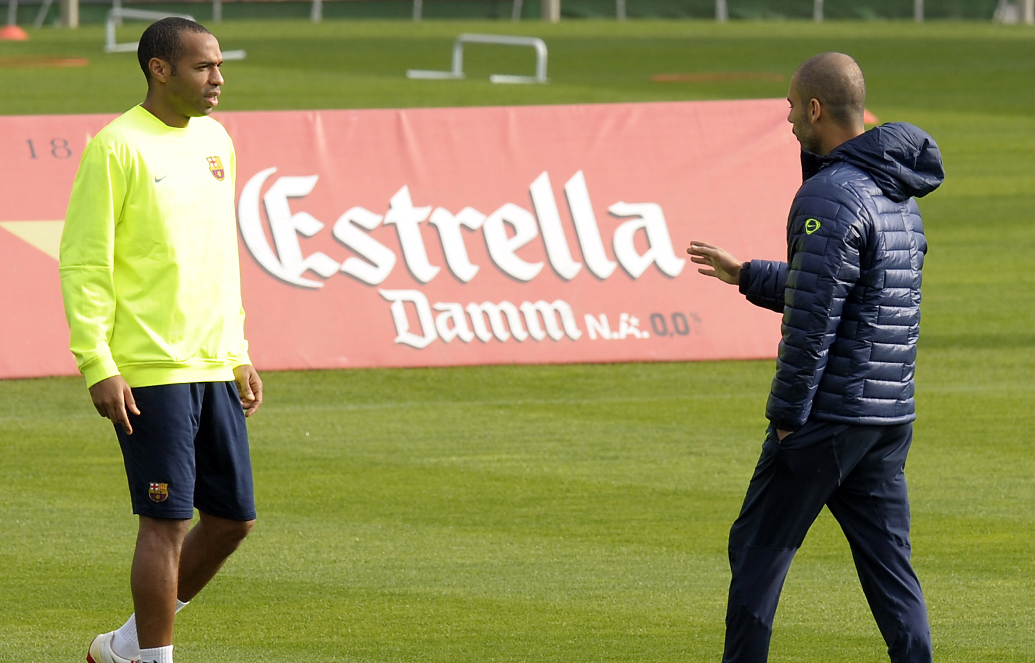 Theirry Henry & Pep Guardiola