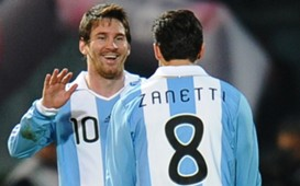 Lionel Messi & Javier Zanetti