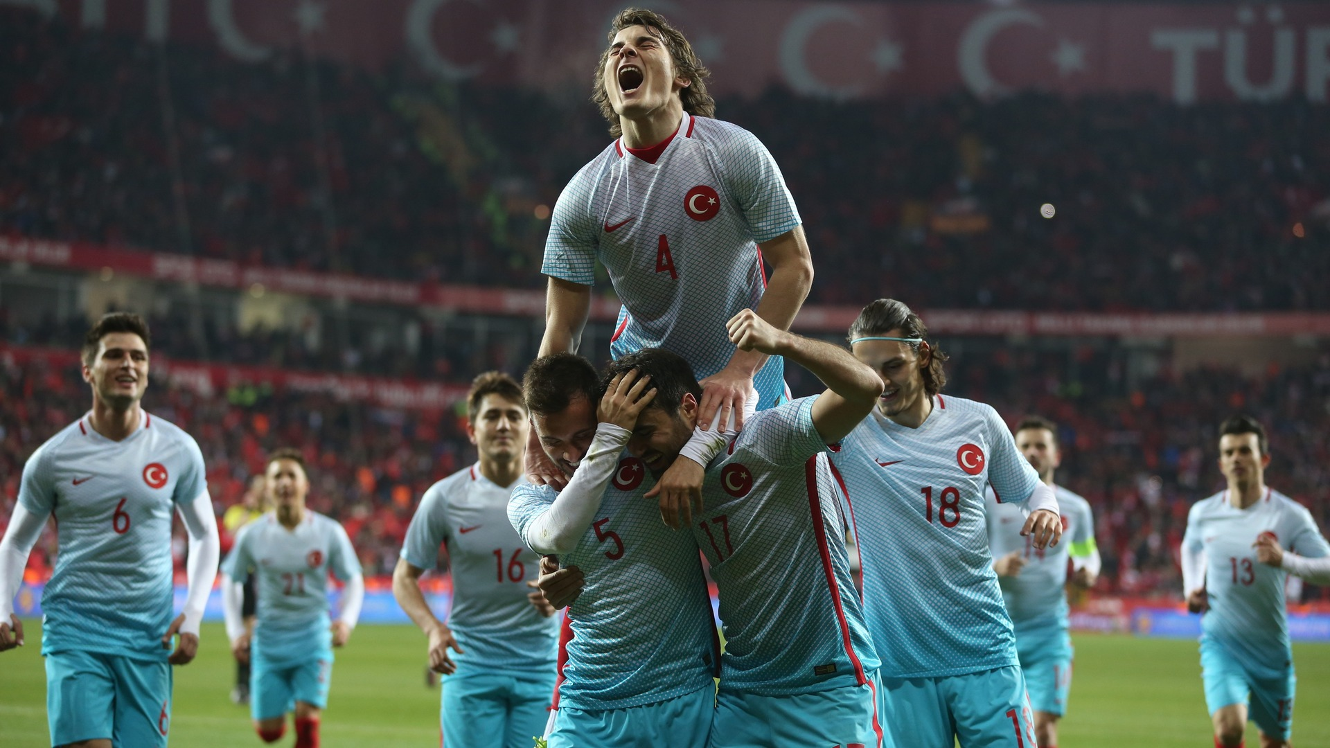 Turkey goal celebration Caglar Soyuncu 2732017