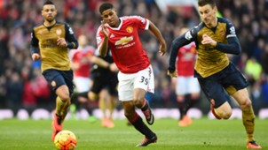 Marcus Rashford Manchester United Arsenal EPL 02282016