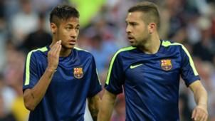 Neymar Jordi Alba Barcelona