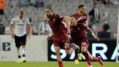 Erkan Zengin goal celebration, Besiktas - Trabzonspor 08222015