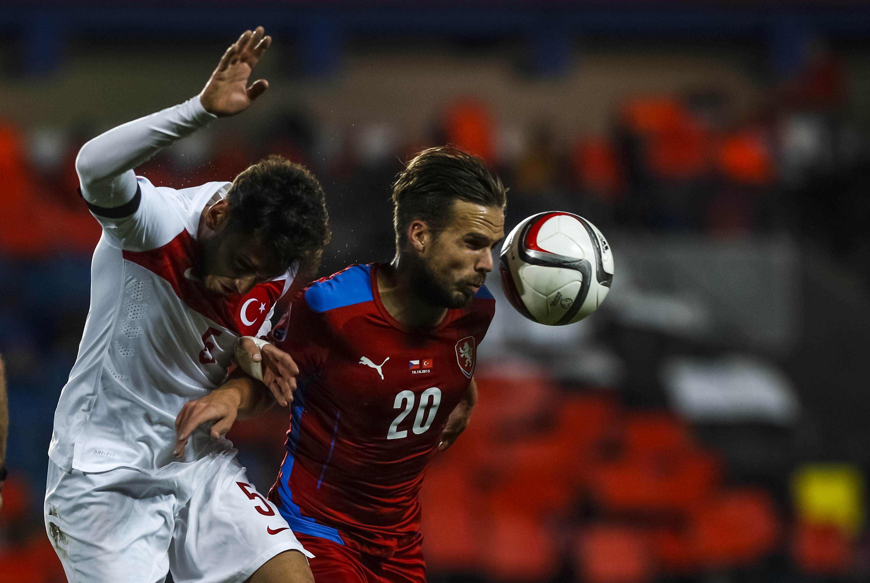 Hakan Calhanoglu - Filip Novak - Czech Republic v Turkey - EURO 2016