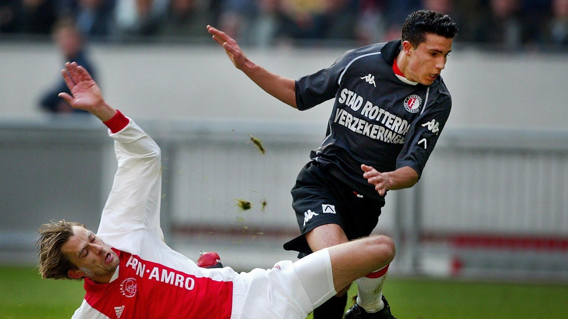 Andre Bergdoelmo Robin van Persie Ajax Feyenoord 03032002