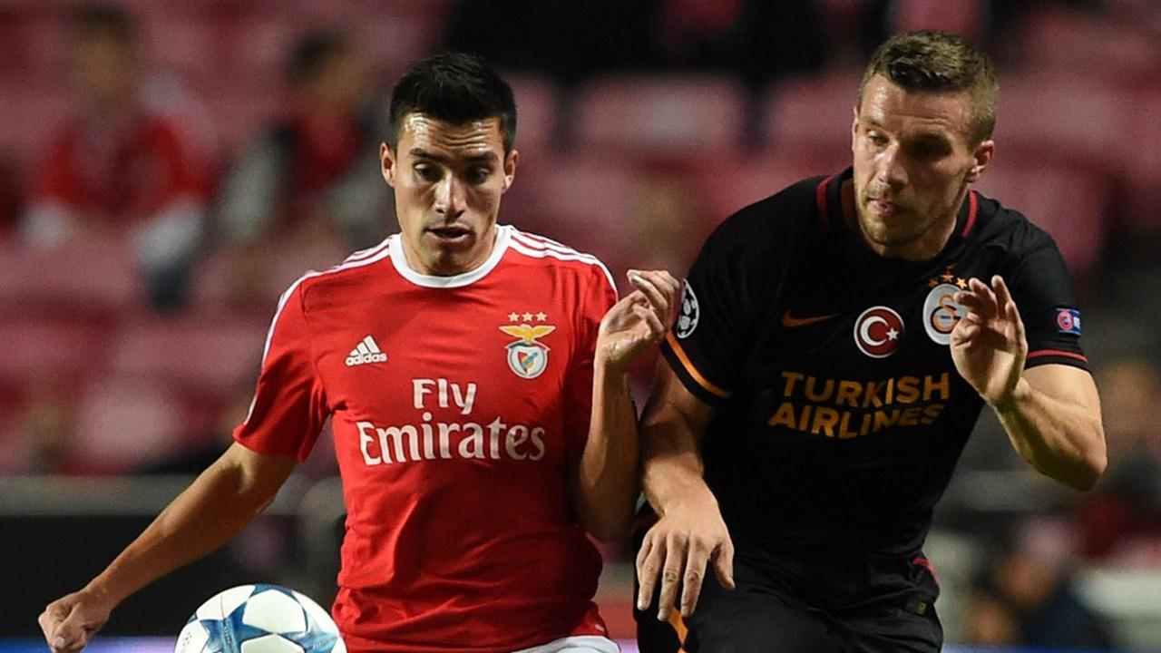 Nicolas Gaitan Lukas Podolski Benfica Galatasaray UCL 11032015