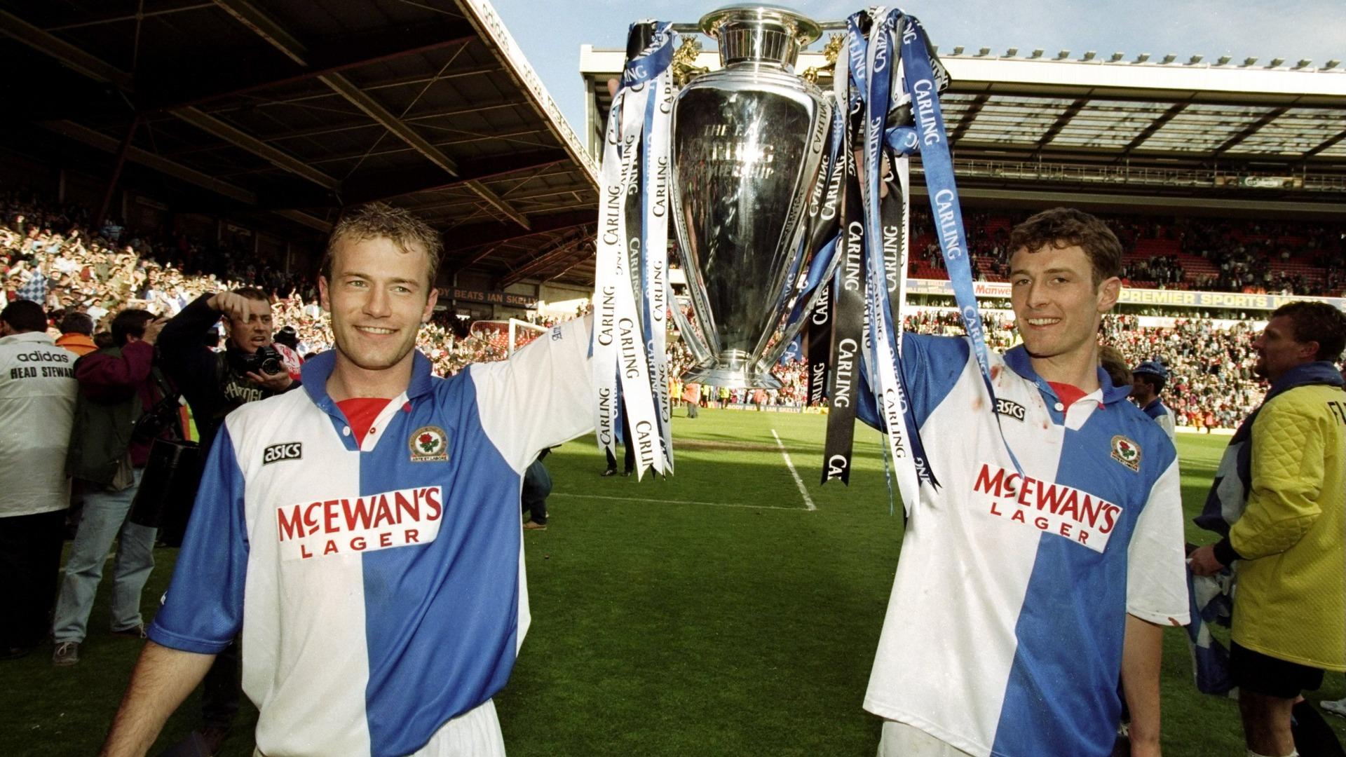 Alain Shearer Chris Sutton Blackburn Rovers 1995