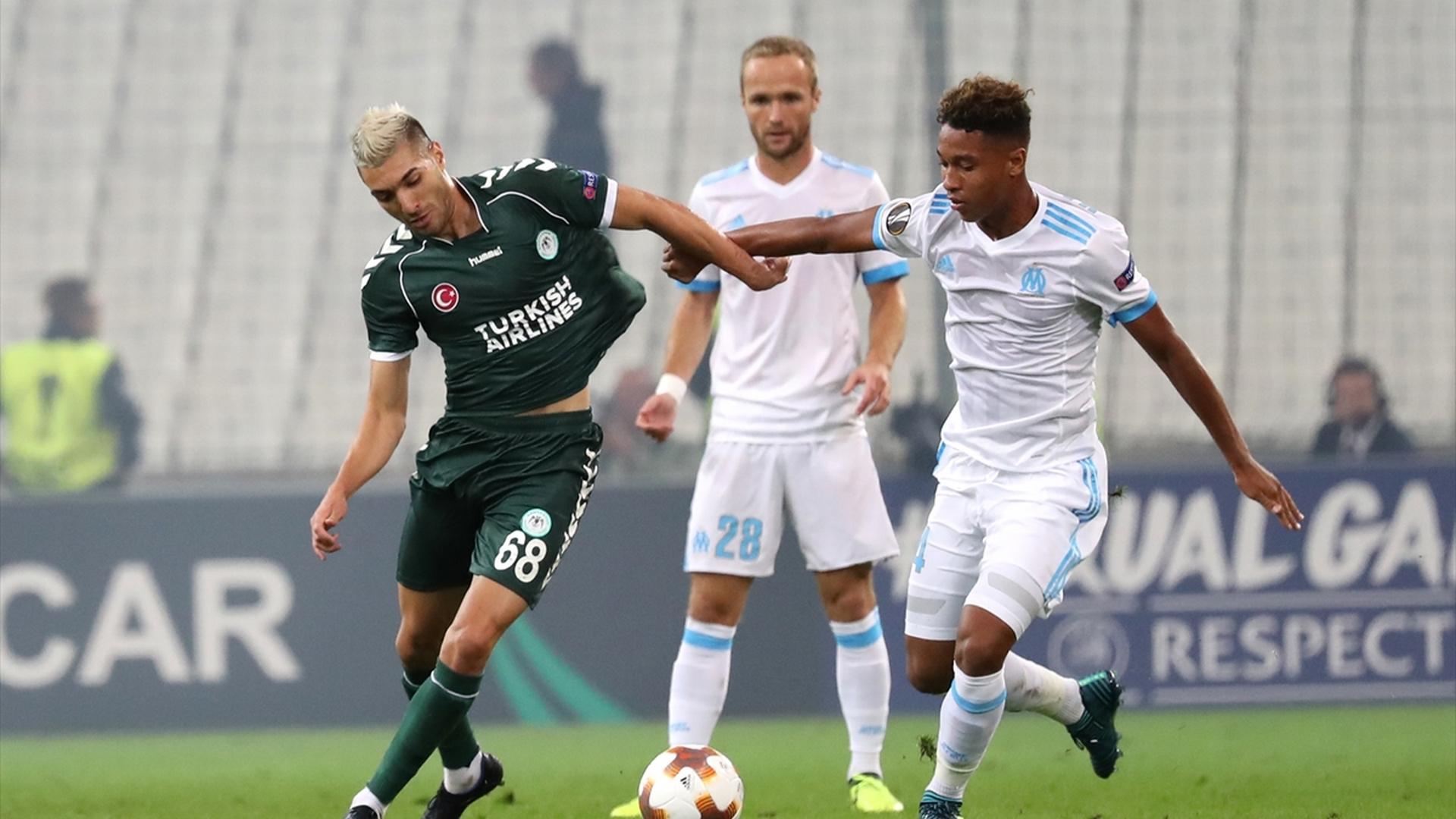 Mehdi Bourabia Boubacar Kamara Marseille Konyaspor UEL 1492017