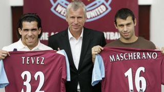 Carlos Tevez Javier Mascherano West Ham