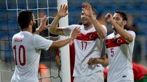 Arda Turan - Burak Yilmaz - Hakan Calhanoglu Turkey - Bulgaria