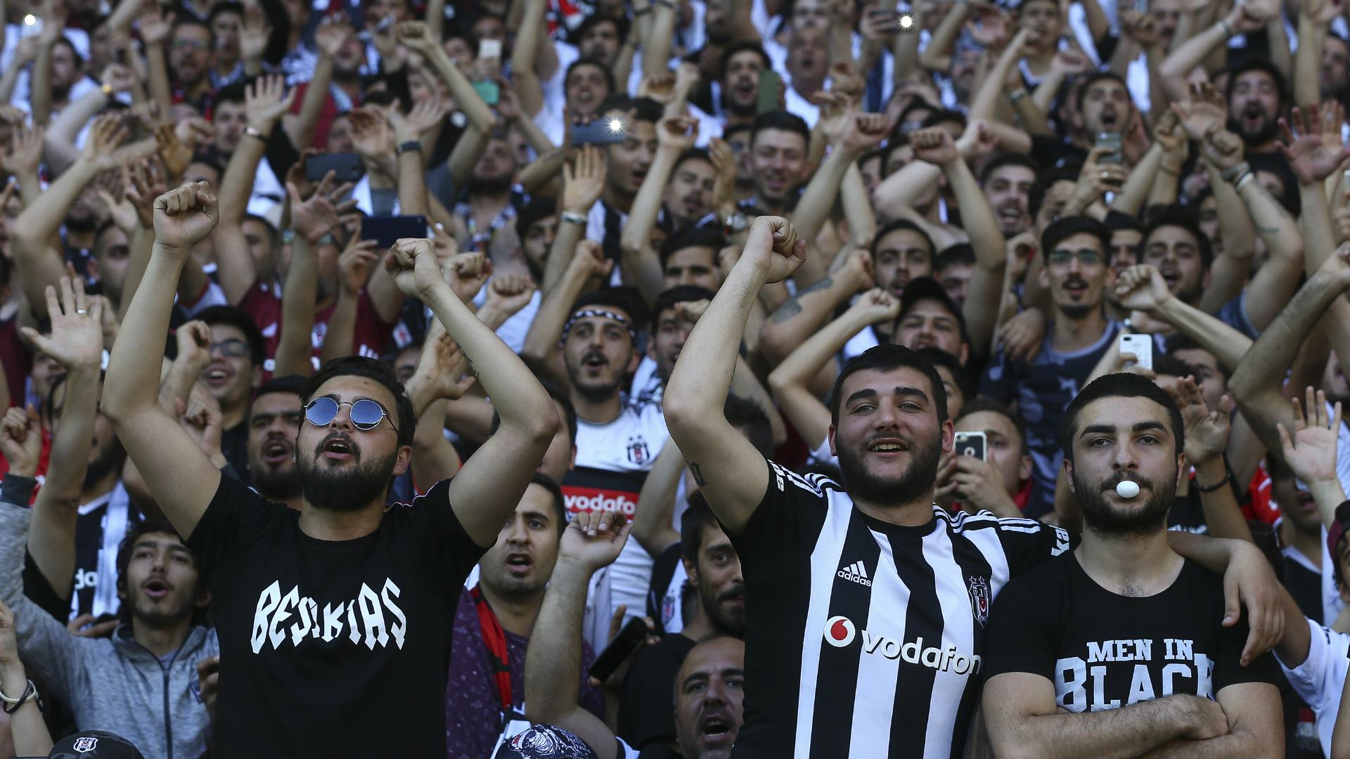 Besiktas fans at Gaziantep