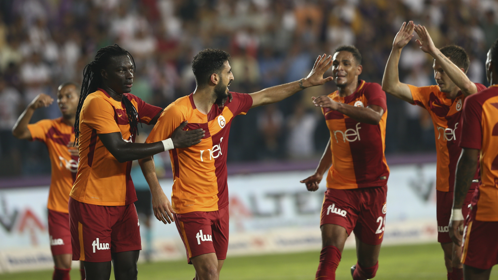 Galatasaray goal celebration vs Osmanlispor 08192017