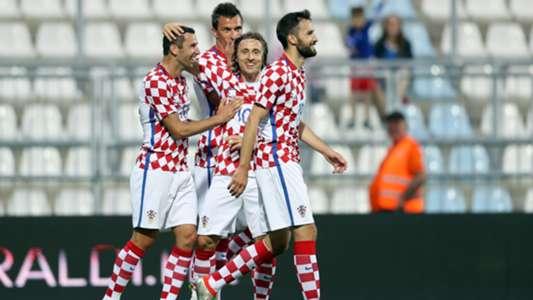 Croatia celebrating