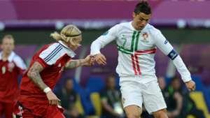 Simon Kjaer Cristiano Ronaldo Denmark Portugal