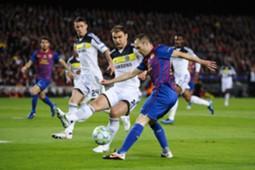 Branislav Ivanovic Andres Iniesta Chelsea Barcelona