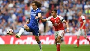 David Luiz Alexis Sanchez FC Chelsea FC Arsenal