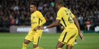 Neymar and Kylian Mbappe2017