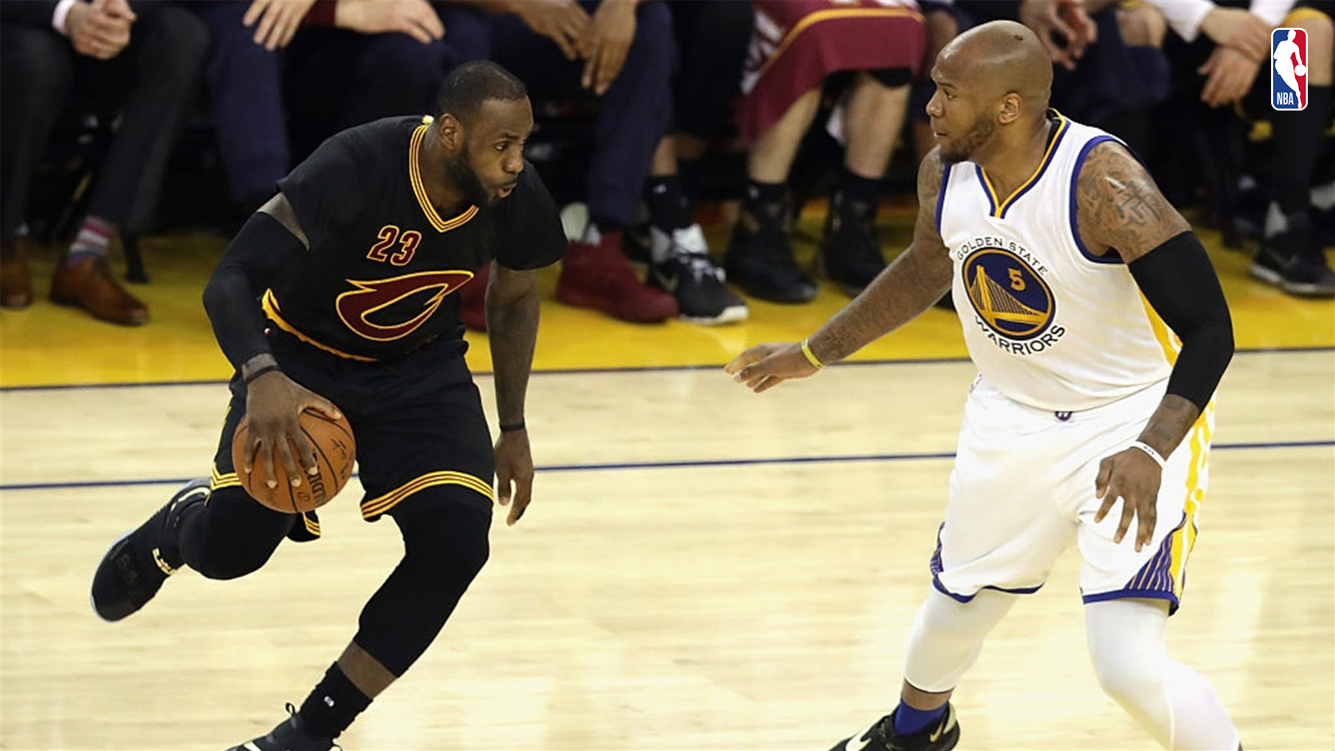 Marreese Speights y LeBron James