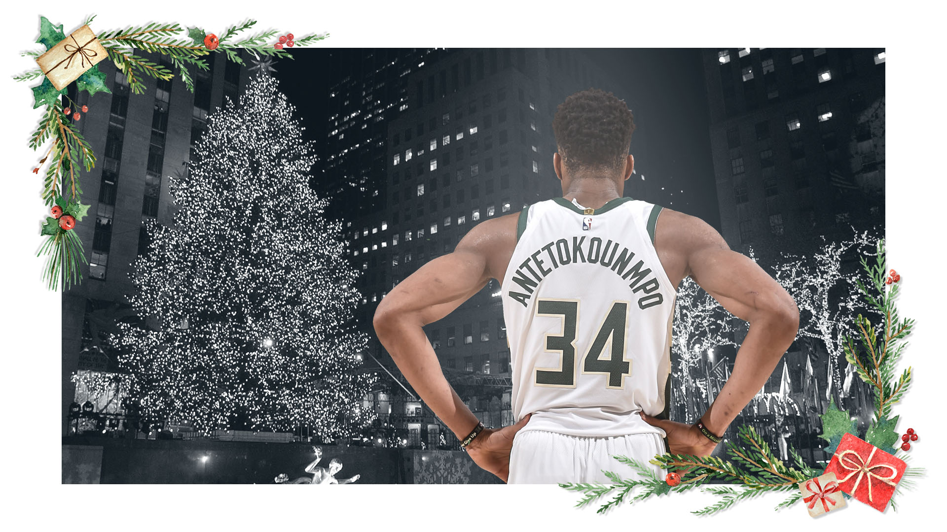 Giannis Antetokounmpo, an MVP candidate this season, will make his Christmas Day debut in the sixth season of his career.