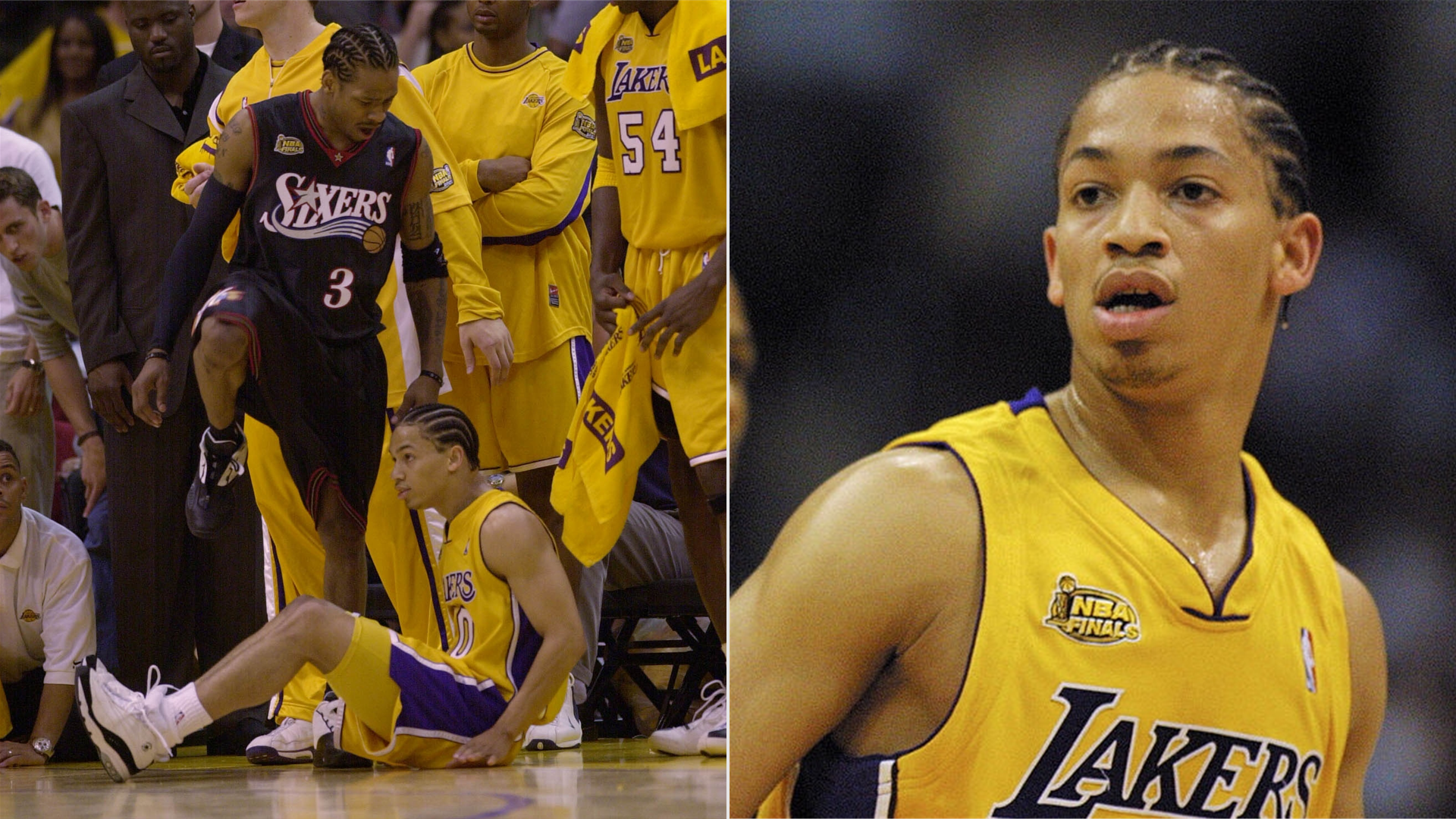 Allen Iverson scored 48 points against Tyronn Lue and the Lakers in Game 1 of the 2001 NBA Finals.