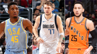 Donovan Mitchell, Luka Doncic, and Ben Simmons