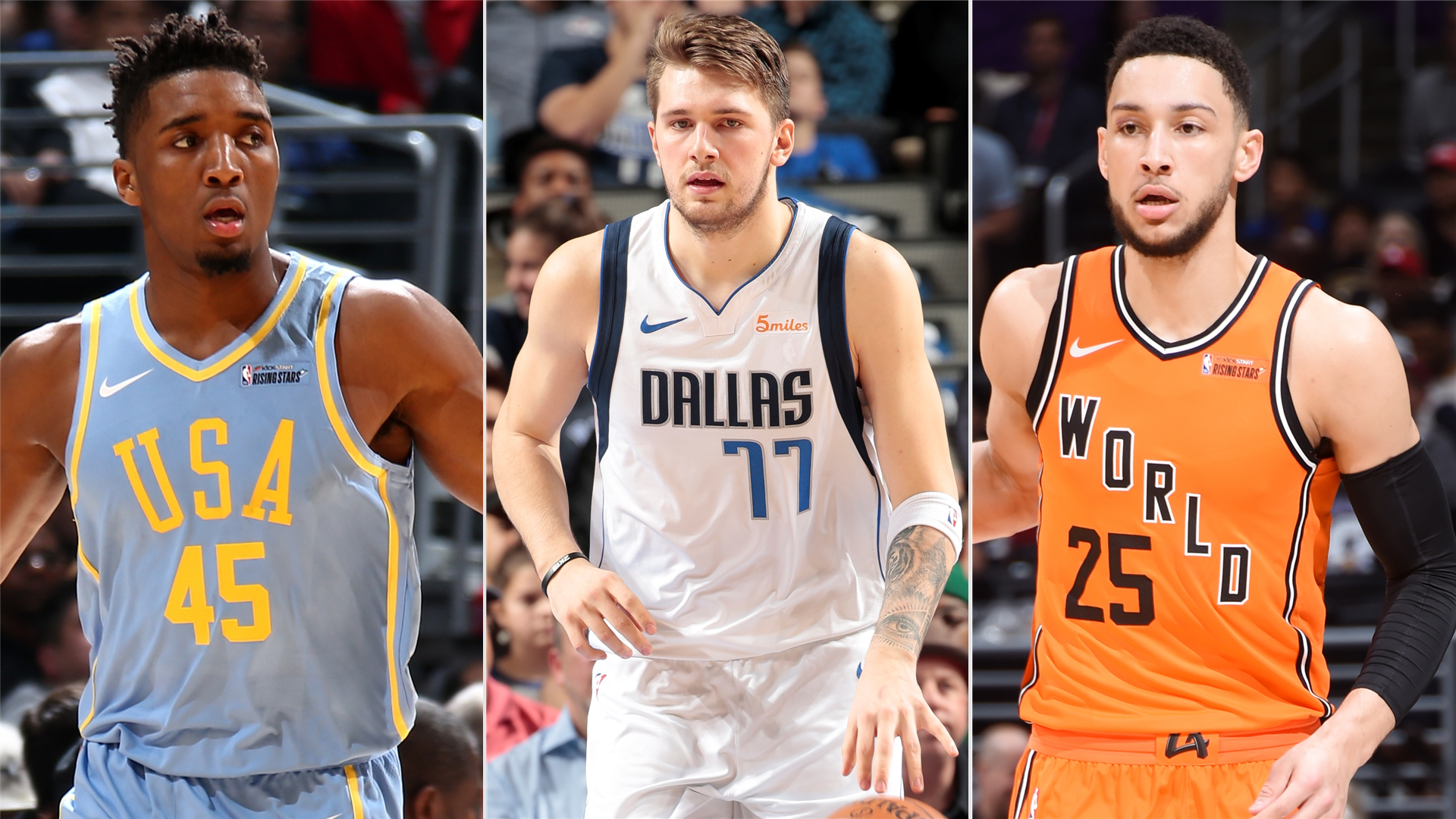 huge selection of 96f66 0add4 NBA All-Star 2019: Donovan Mitchell, Luka Doncic & Ben ...