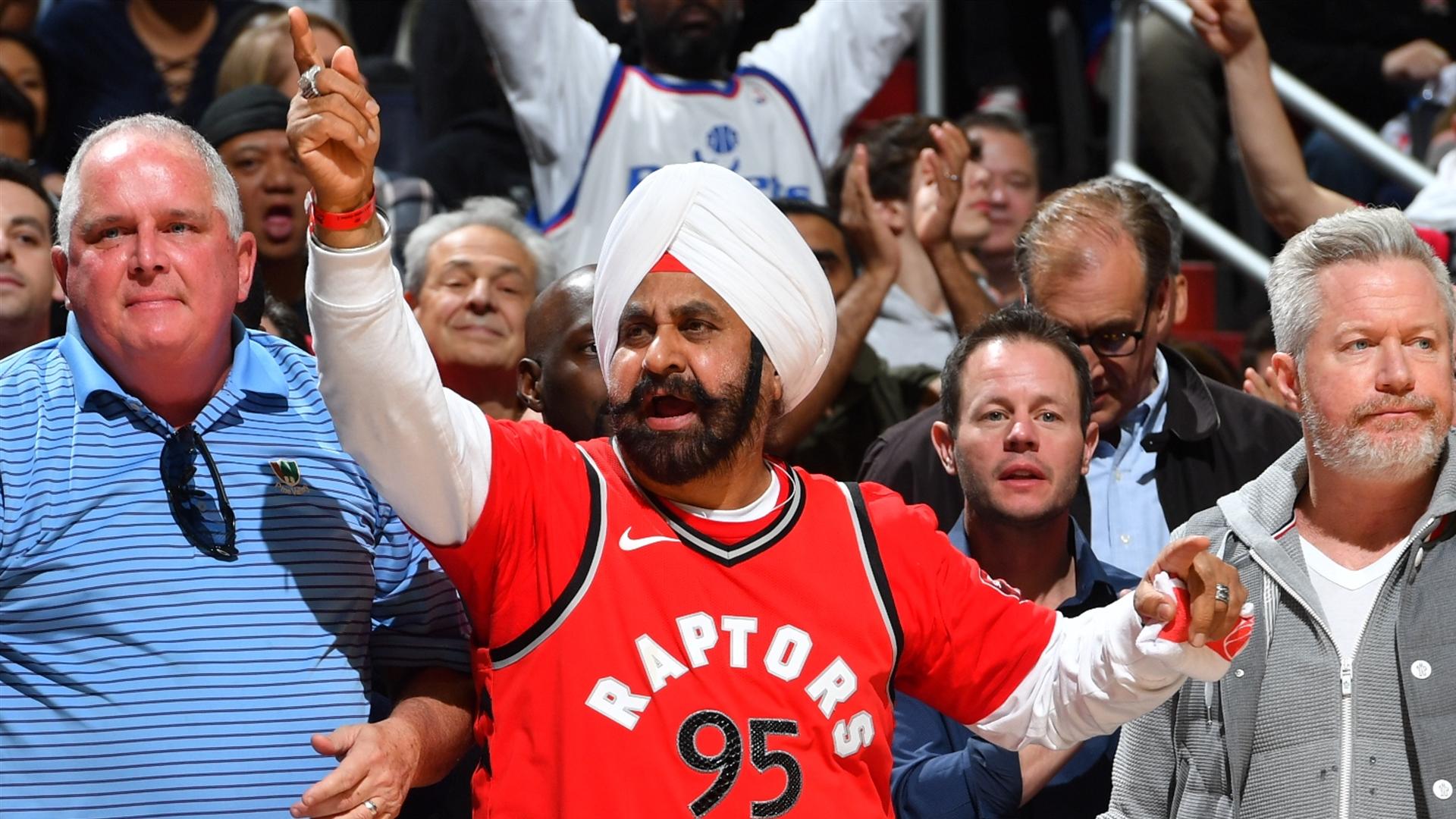 pretty nice dd9a0 f4e61 Toronto Raptors' superfan Nav Bhatia on the 2019 NBA India ...