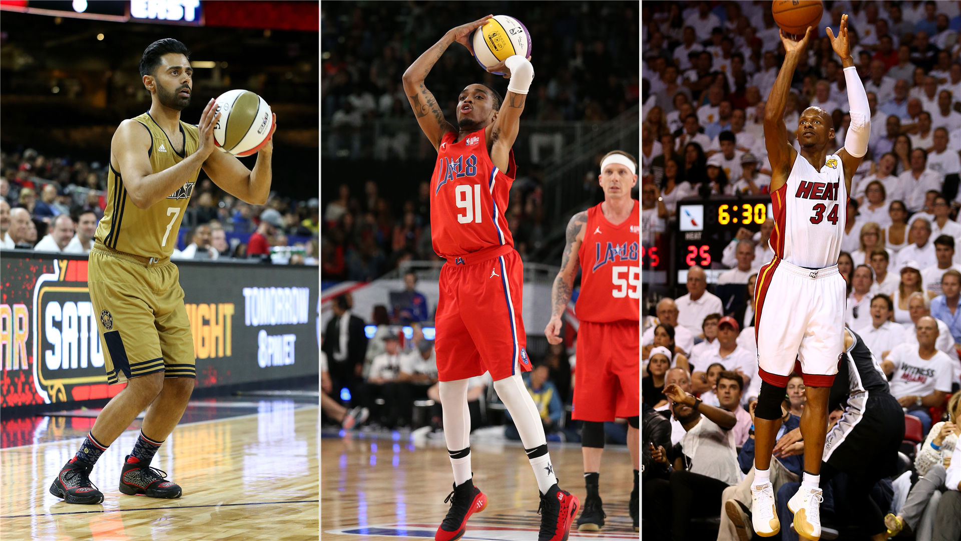 Ray Allen put on a show during the All-Star Celebrity Game