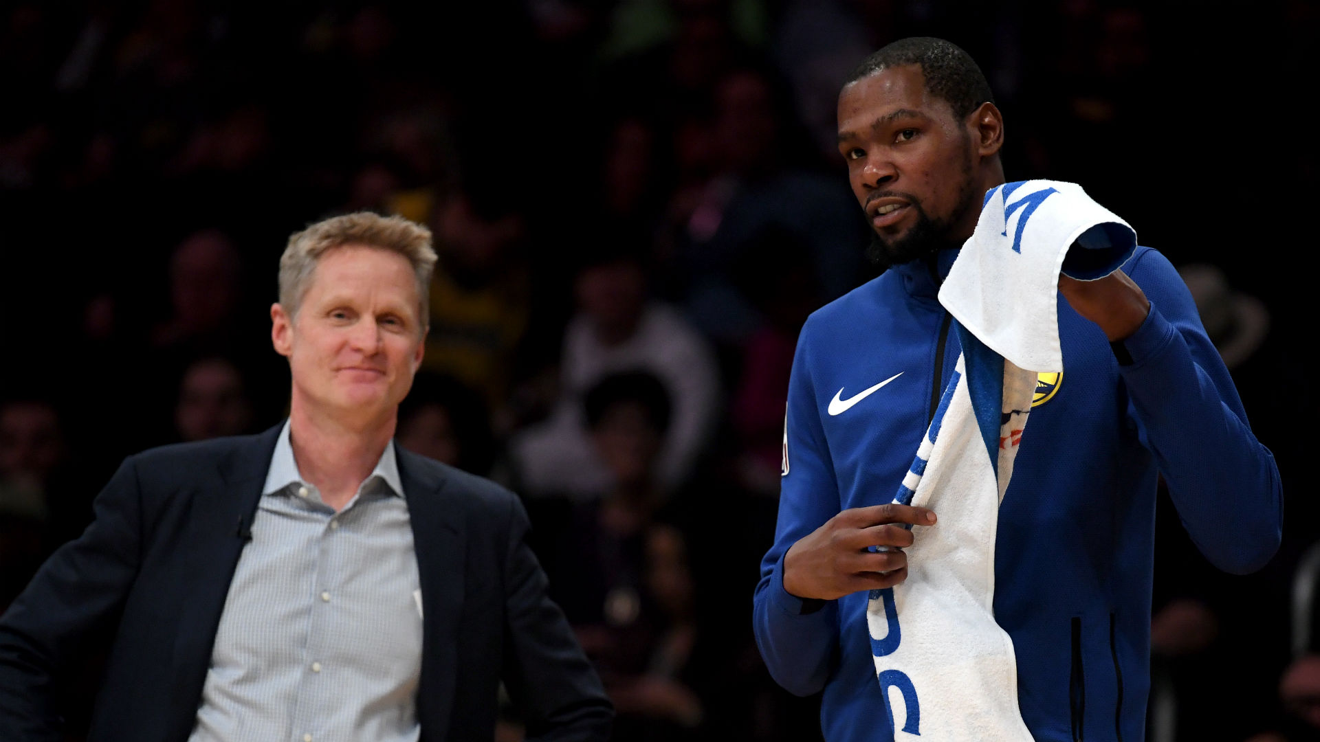 low priced d51aa 23ceb NBA Playoffs 2019  Steve Kerr calls Kevin Durant  best player in the world   after 50-point performance   NBA.com. )