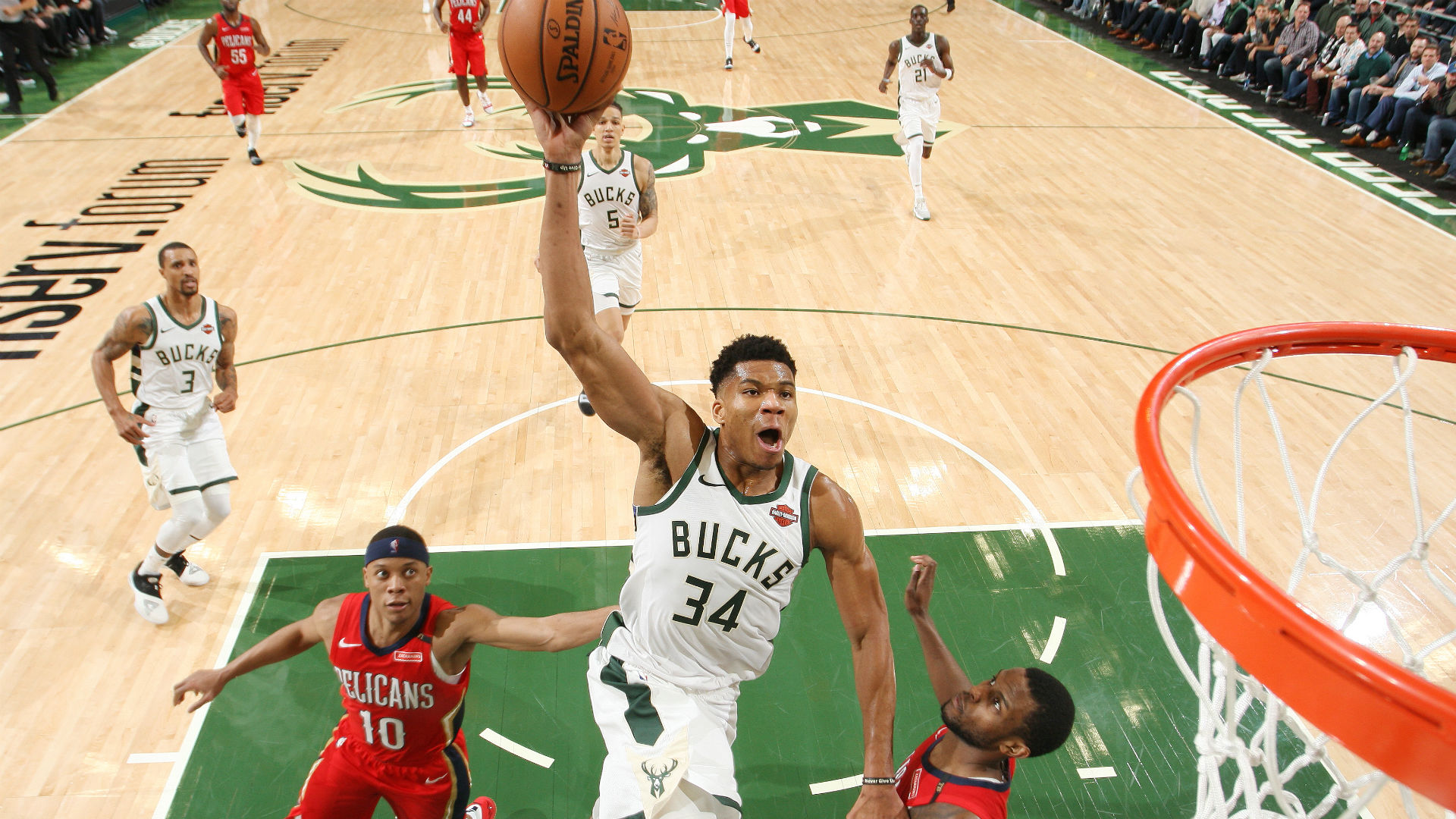 Giannis Antetokounmpo Is Dunking On Teams Like A Modern Day