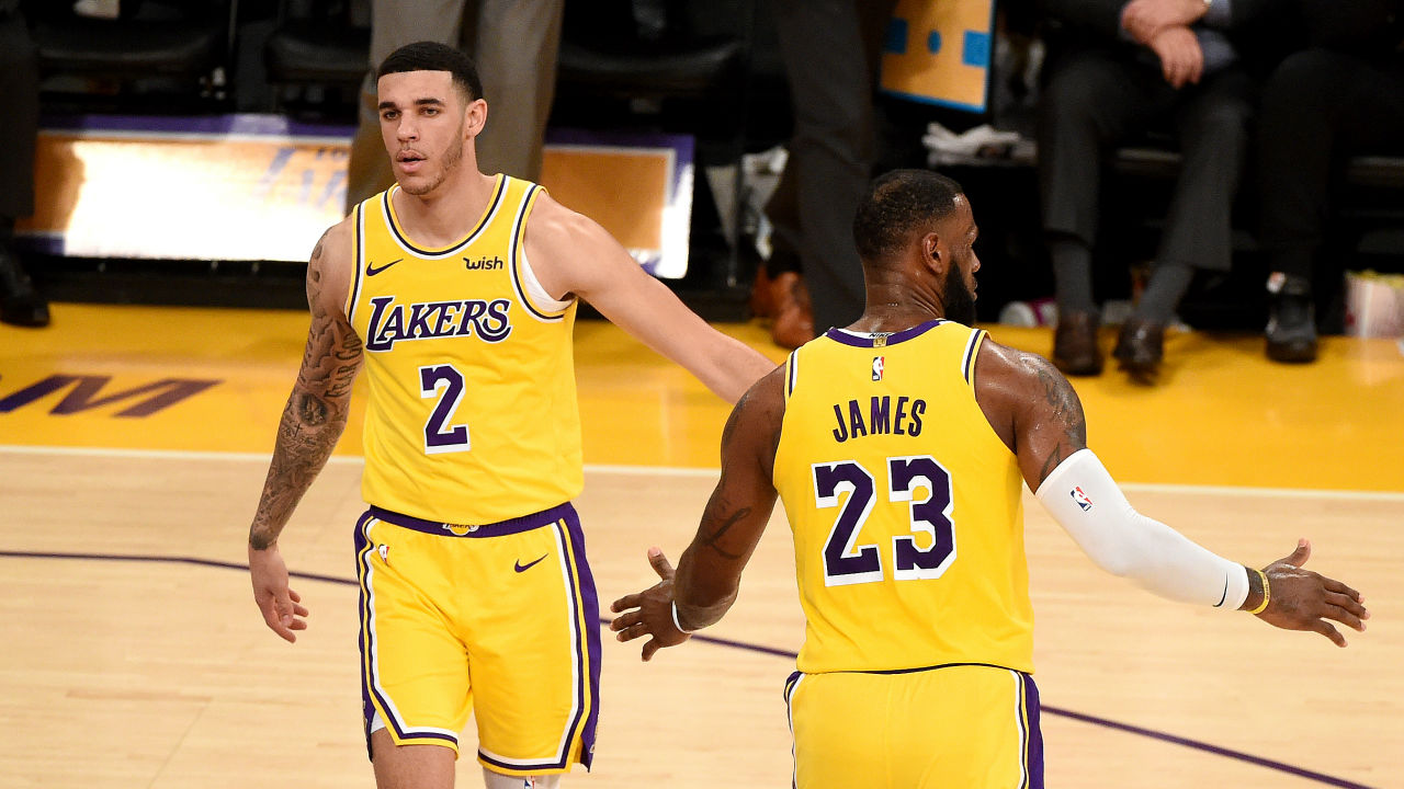 16ad3206a1f LeBron James praises  aggressive  Lonzo Ball