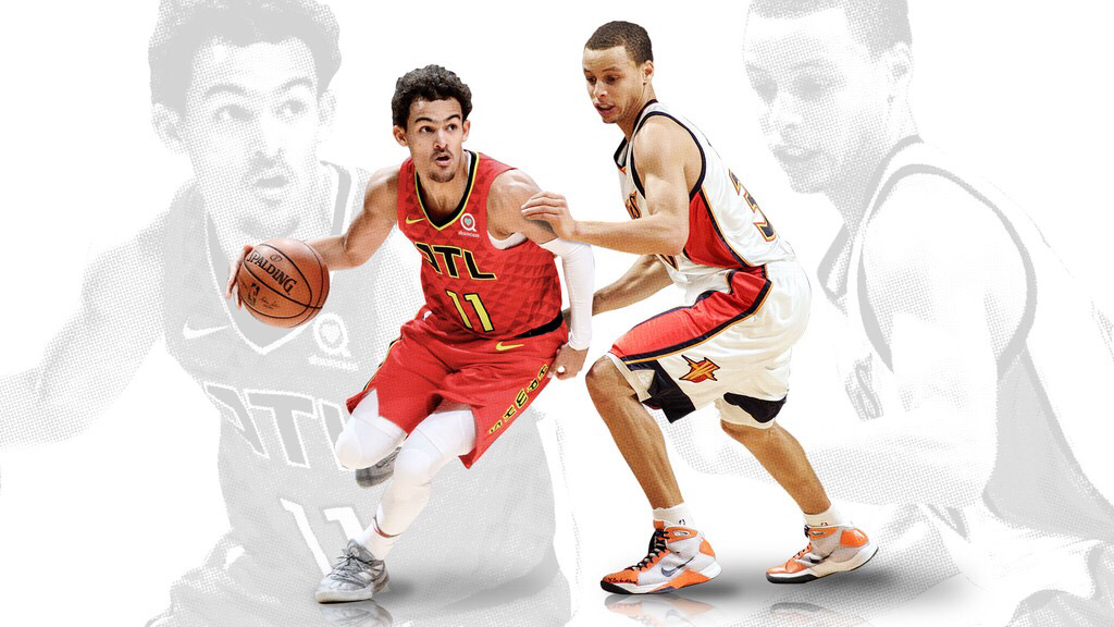5a300c3a9fd9 The Stephen Curry effect  How Trae Young compares to a younger version of  his NBA counterpart