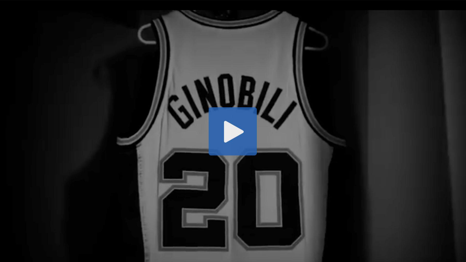 best website ce0f0 52fb3 WATCH: Manu Ginobili's jersey retirement and tribute video ...